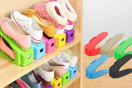Groupon Goods Global GmbH - Two, Four or Five Space Saver Shoe Organisers - Save 74%