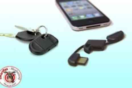 Smartass Marketing - Must have iPhone iPod accessory a keyring USB charger and keep your iPhone charged - Save 97%