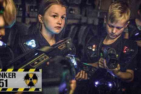Ultimate Recreation - Laser Tag and Paintball at Bunker 51, Greenwich, Become an Action Hero in a Decommissioned Cold War Bunker - Save 50%