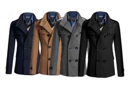 Bluebell Retail - Mens slim fit military coat choose from four colours - Save 0%