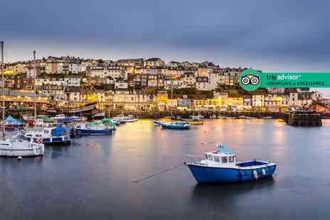 The Quayside Hotel - One or two night Brixham stay with £30pp dining credit, a glass of prosecco each, breakfast and sea view room - Save 34%