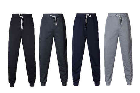 Blu Apparel - Pair of casual jogging bottoms choose from four colours - Save 0%