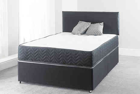 Giomani Designs - Black border divan bed with a mattress and optional drawers choose from six sizes - Save 0%