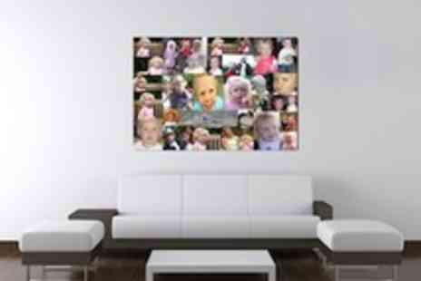 Stroon - 65x95cm Photo Montage Canvas  use up to 54 images - Save 70%