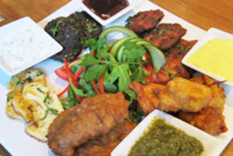 Dhoop Shack - Sharing Platter, Onion Bhajis and Wine for Two - Save 51%