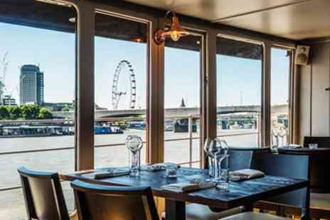 The Yacht London - 2 course lunch & bubbly for 2 aboard Thames yacht - Save 62%