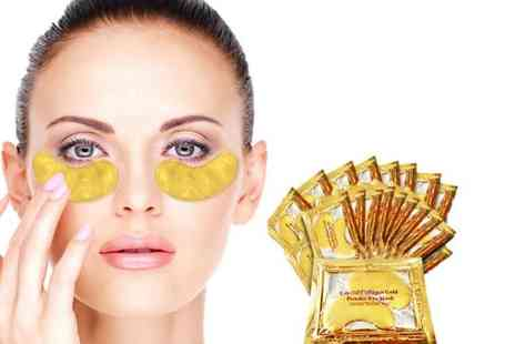 Forever Cosmetics - Set of 40 crystal gold collagen eye masks treat your peepers - Save 82%