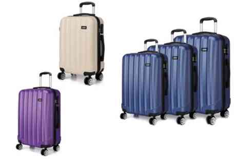 Groupon Goods Global GmbH - One or Three Kono Hard Shell Travel Luggage Suitcases - Save 64%
