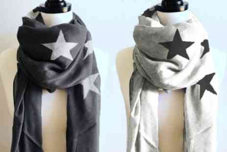 Groupon Goods Global GmbH - Two Star Print Scarves - Save 65%