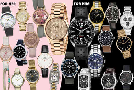 Brand Arena - Mystery watch deal for him or her Tag Heuer, Gucci, Hugo Boss, Daniel Wellington, Armani, Calvin Klein, Spirit, Kahuna & More - Save 0%