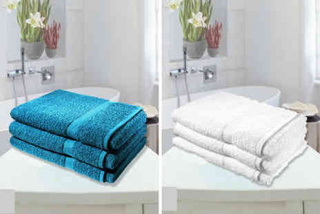 Groundlevel - Set of 3 jumbo cotton bath towels - Save 73%