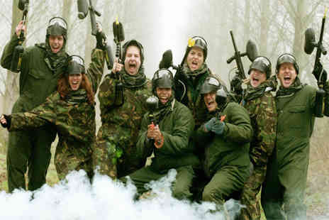 Bedlam Paintball - Paintballing day for five & light lunch at 100 plus locations - Save 95%