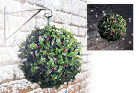 Zoozio - 28cm solar holly berry topiary ball - Save 63%