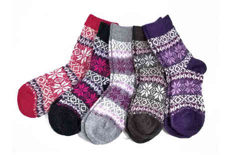Trifolium - Pack of 10 childrens snowflake socks - Save 0%