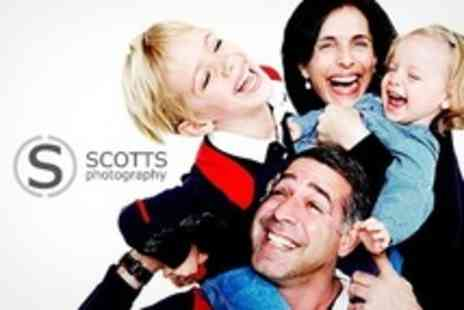Scotts Photography - Group Photo Shoot Plus Six Prints and DVD - Save 90%