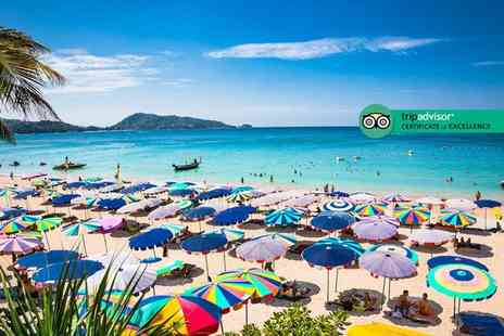Great Pacific Travels - Seven night 4 Star Phuket beach break, deluxe room, breakfast, massage, shuttle transfers and flights - Save 38%