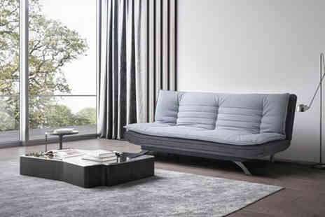 UK Furniture Zone - Three seater fabric sofa bed choose from two colours - Save 78%