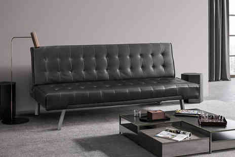 UK Furniture Zone - Faux leather sofa bed choose from two colours - Save 83%