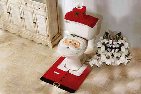 Zoozio - Santa toilet seat cover set - Save 50%