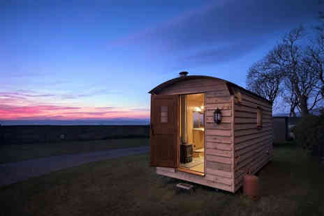 Hendre Hall - Two night glamping pod stay for two adults and two children or three adults or shepherds hut stay for up to three people - Save 21%