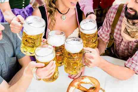 Oktoberfest - Two tickets to Oktoberfest including a bratwurst, fries and half a pint of German beer each - Save 65%