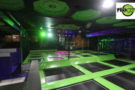 Flip Out E6 - Up to Three Hour Trampoline Park Access for Up to Four - Save 37%