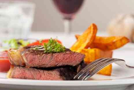 The Cross Keys Inn - 8oz Rib Eye Steak with Sauce and Glass of Wine for Up to Four - Save 55%