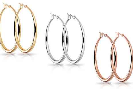 Groupon Goods Global GmbH - One, Two or Three Pairs of Philip Jones Hoop Earrings - Save 89%