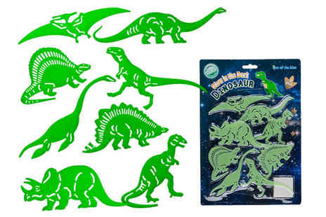 London Exchain Store - Set of glow in the dark stick on dinosaurs - Save 80%