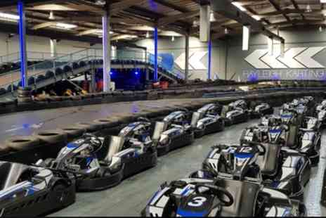 Rayleigh Indoor Karting - Up to 20 MInutes of Go Karting Track Time for Up to Four - Save 29%