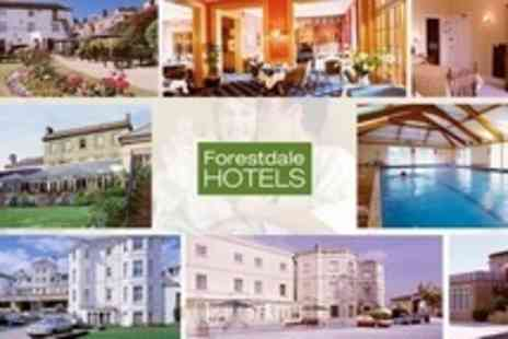 Forestdale Hotels - UK Hotels: One or Two Night Stay For Two With Breakfast at a Choice of Hotels from £49 with Forestdale Hotels (Up to 67% Off) - Save 45%