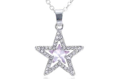 Get Gorgeous - Simulated Crystal Star Pendant Necklace - Save 60%