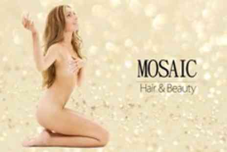 Mosaic Hair and Nails - Waxing Package of Full Legs, Bikini, and Small Area Such as Eyebrows - Save 52%