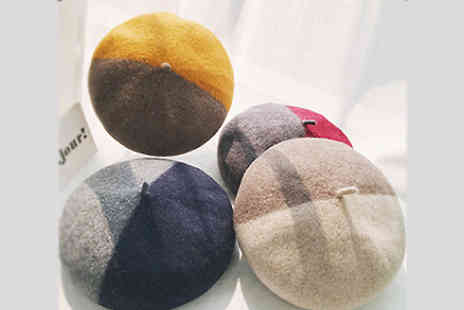 Buy Something - Pastel Two Tone Beret Available in 4 Colours - Save 55%