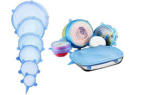 Best mall ever - 6 Piece Stretchy Silicone Lid Set - Save 76%