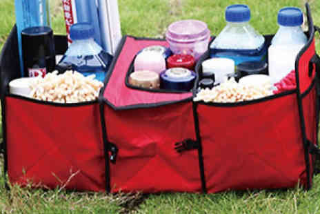HXT Goods - Car Boot Organiser with Built In Cooler and Insulator Bag Choose from 3 Colours - Save 67%