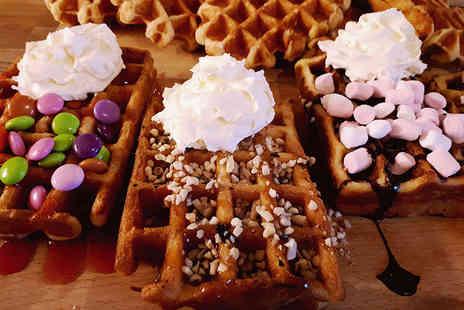Hatton Country World - Waffle and hot chocolate each for two or four people - Save 50%