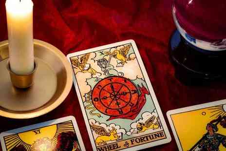 Psychic & Spiritual Guidance - Choice of 30 minute or one hour tarot card or spirit reading - Save 75%