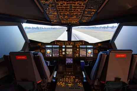 The Emirates Aviation Experience - Airbus A380 or Boeing B777 Flight Simulator Session - Save 40%