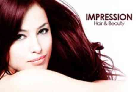 Impression Hair & Beauty - Restyle Cut With MOROCCANOIL Treatment Plus Full-Head Colour or Half-Head Highlights - Save 55%