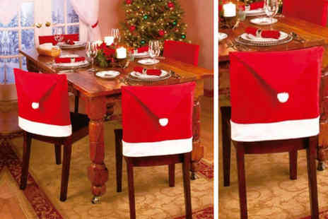 Zoozio - Four pack of Santa hat chair covers - Save 67%