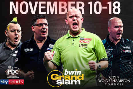 Professional Darts Corporation - Ticket to the Grand Slam of Darts from 11th to 15th Nov or ticket on 16th or 18th Nov 2018 - Save 59%