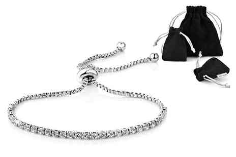 Philip Jones - Solitaire friendship bracelet choose from three colours - Save 82%