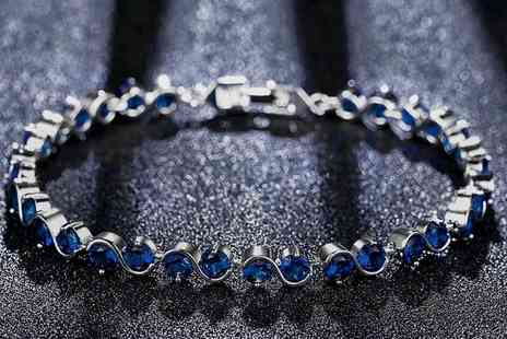 GameChanger Associates - Linked bracelet featuring blue zirconia - Save 84%