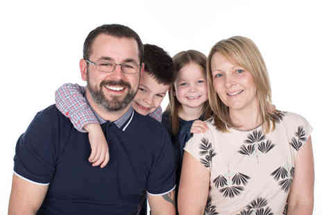 Jigsaw Photography - Family photoshoot for up to eight people including six prints, a canvas and a digital image - Save 94%