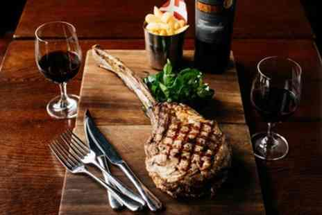 RockIt Steakhouse - Tomahawk Steak to Share with Two Sides, Sauces and Bottle of Wine for Two - Save 39%