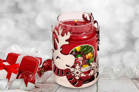 Dream Price Direct - Large Yankee Christmas candle with reindeer candle holder - Save 67%