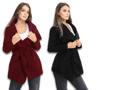 Verso Fashion - A ladies waterfall jacket choose from 11 colours - Save 47%