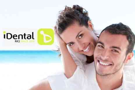 iDental - Full Diamond Abrasion Polish, Consultation And Check Up - Save 71%