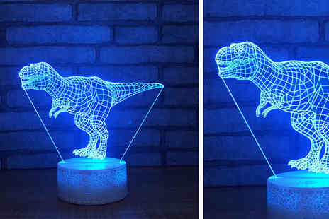 Charles Oscar - 3D colour changing night light choose between four designs - Save 63%